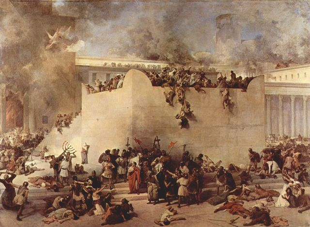 Destruction of the First Temple, painting by Francesco Hayez. Credit: Wikipedia.