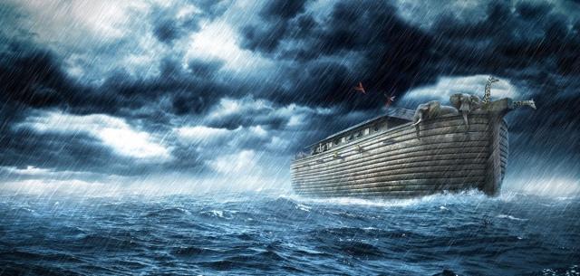 Noah-ark-at-sea